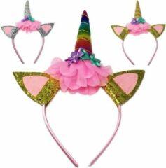 Gouden Glamza Unicorn Hoofdband - Rainbow