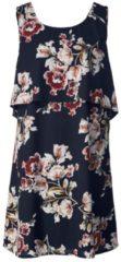 Kleid mit Blumen-Print Zhenzi Marineblau