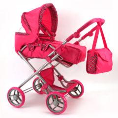Basic Poppenwagen Roze