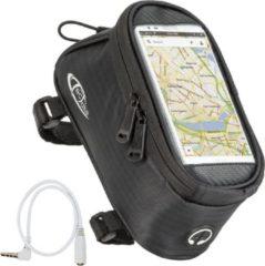 TecTake - Frametas fietstas voor o.a. smartphone e.d. zwart M 401614