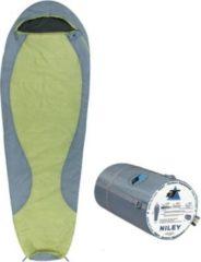 10-T Outdoor Equipment 10T Schlafsack Niley -8° warm weich 1000g leicht XL Mumienschlafsack 225x80 Grün / Grau 150g/m²