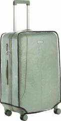 Witte CarryOn Kofferhoes - Beschermhoes koffer - Luggage Cover Large - Transparant