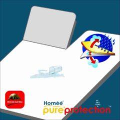 Witte Homee Homéé - Splittopper Molton flanel hoeslaken PU waterdicht 160x210/220cm 100% geruwd katoen 220g. p/m2