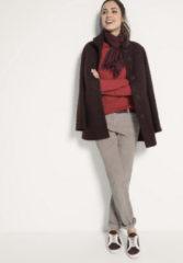 Hessnatur Damen Cord-Hose aus Hanf mit Bio-Baumwolle – grau – Größe 38