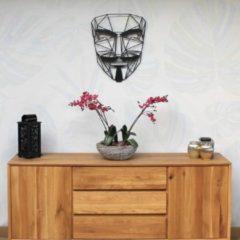 Zwarte Drart - Metalen Anonymus 80 cm x 65 cm - metalen wanddecoratie - metal anonymus