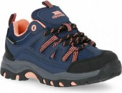 Marineblauwe Trespass Childrens/Kids Gillon Low Cut Walking Shoe (Navy/Neon Coral)