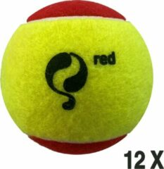 Quick Q-Tennisbal Stage 3 - Geel / Rood 12 stuks
