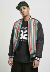 Southpole College jacket -L- Southpole Stripe Zwart/Multicolours