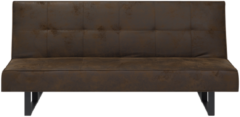 Beliani Slaapbank bruin kunstleer 189 cm DERBY klein