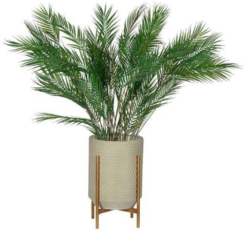 Afbeelding van WOOOD Exclusive WOOOD Plantenstandaard 'Juul' 50cm, kleur Betongrijs