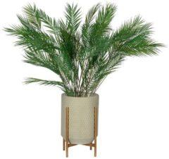 WOOOD Exclusive WOOOD Plantenstandaard 'Juul' 50cm, kleur Betongrijs