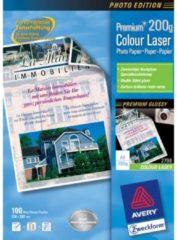Avery-Zweckform Premium Laser Papier hochglänzend 2798 Laserprintpapier DIN A4 200 g/m² 100 vellen Wit