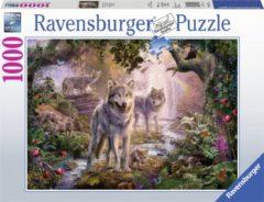 Ravensburger puzzel Wolvenfamilie in de zomer - Legpuzzel - 1000 stukjes