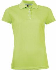 Groene Polo Shirt Korte Mouw Sols PERFORMER SPORT WOMEN