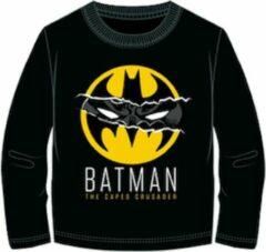 Batman t-shirt - zwart - geel - Maat 128 / 8 jaar