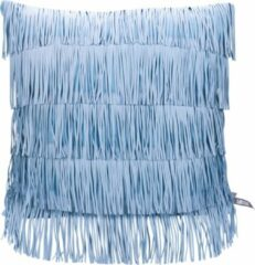 Blauwe Kids Depot Kidsdepot kussen Zebra Fringe blue