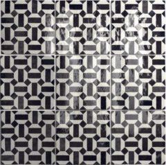 SaniGoods Wandtegel Artisan Decor Lunas B&W 13,2x13,2