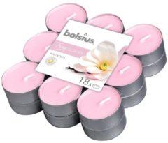Roze Bolsius Aromatic Standard Bolsius Geurtheelicht - True Scents - Magnolia - 18 stuks