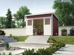 Rode WEKA | Tuinhuis 225 | 295 x 209 cm | Zweeds rood