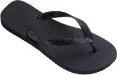 Zwarte Havaianas Top Unisex Slippers - Black - Maat 39/40