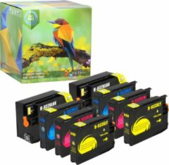 Cyane Ink Hero - 8 Pack - Inktcartridge / Alternatief voor de HP Officejet 932 933 CN053AE CN057AE CN054AE CN055AE CN056AE 6100 6600 6700 7110 7510 7610 7612
