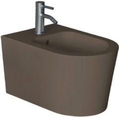 Bidet Salenzi Form Square Mat Donkerbruin (exclusief kraan)