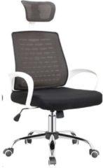 Drehstuhl mit Kopfstütze John HTI-Line Schwarz, Weiß