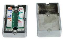 Grijze Goobay M-Cab Netzwerk Cat 5 Connection Box kabeladapter/verloopstukje