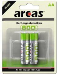 Oplaadbare AA batterij - Set van 2 batterijen - ARCAS