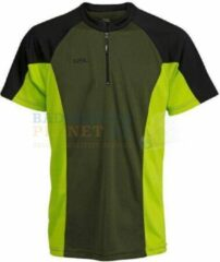 RSL T-shirt Badminton Tennis Zwart/Lime maat 152