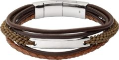 Donkerbruine Fossil Mens Vintage Casual Heren Armband JF02703040
