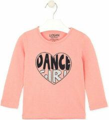 Roze T-shirt Losan 026-1632AL