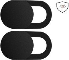 Products4You 2x Webcam Cover |Zowel voor Laptop als voor Smartphones |Camera Privacy Bescherming | 1 Pack Zwart