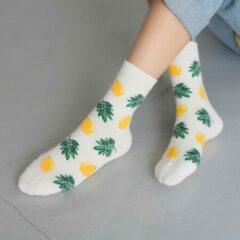 Gele Hiden | Sneaker sokken - Sokken Heren - Sokken Dames - Geschenkset Maat 36-40 | Lemon