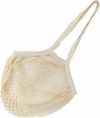 Creme witte Natuurlijkerleven Boodschappentas met lange hengsels gemaakt van biologisch katoen ecru