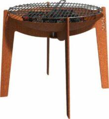 Bruine Forno Cortenstalen Cosa BCA2 + grill barbecue grill plaat barbeque cortenstaal grill plaat