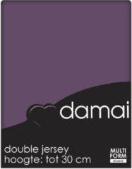 Paarse Damai - Hoeslaken (tot 25 cm) - Double Jersey - 180 x 220 - 200 x 200 cm - Purple
