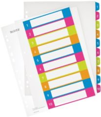 Leitz 12430000 Numeric tab index Polypropyleen (PP) Multi kleuren indextab
