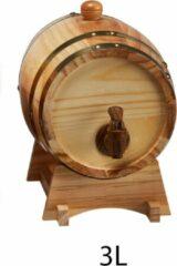 Beige Cave & Garden Wijnvat - 3 Liter - Wine Barrel - Wijn vat - Wijnvaatje – Wijn Accessoires - Naturel - Tapkraantje