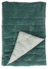 Groene Dutch Decor Walra 1208449 plaid Velvet Touch 130x180 cm jade