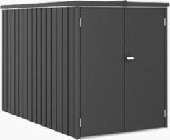 Biohort MiniGarage Donkergrijs metallic - 122 x 203 x 145 cm