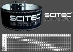Scitec Nutrition - Gewichtshef Gordel - Gewichtshefgordel - Gewichtheffersriem - Rugriem - Halterriem - Fitnessriem - model Powerlifter - XL = 92-110 cm - Zwart