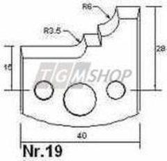 Edessö 2 deflettori A19 (1562A019P)