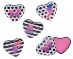 Roze Merkloos / Sans marque Casuelle lip balm in hartvormig blikje