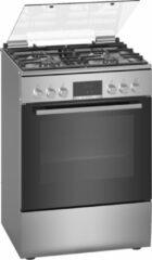 Grijze Bosch HXR390E50N - Serie 4 - Gasfornuis