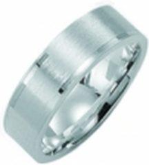 Zilveren Kiss Me ring zilver mat met hoogglans elementen KM121 maat 62