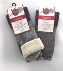 Grijze X treme sockswear Xtreme Sockswear maat 31/34 100% Merinowol