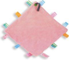 Labeldoekje speen roze | speendoekje | babydoekje | speenkoord | speenknuffel | funnies| baby roze
