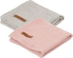 Roze Little Dutch Swaddle doek 70 x 70 - pure pink /grey (set van 2 designs)