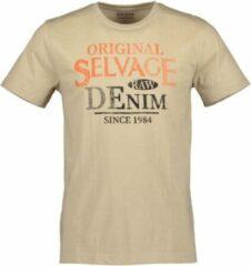 Beige Blue Seven heren shirt zand+print - maat L